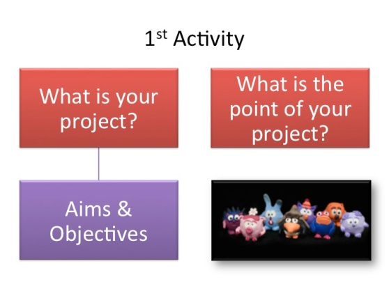 I put some guiding questions into the PowerPoint. Suggesting possible focus points.