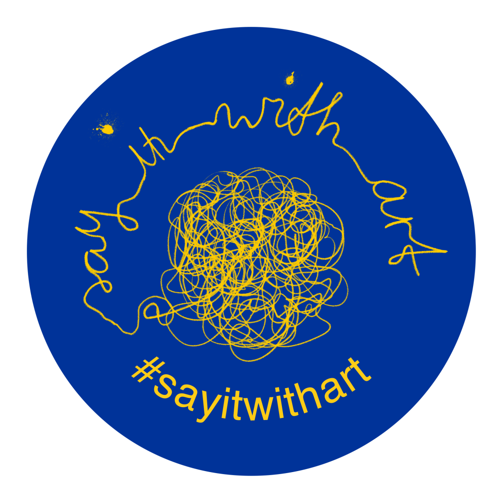 Say it with Art--Round Logo