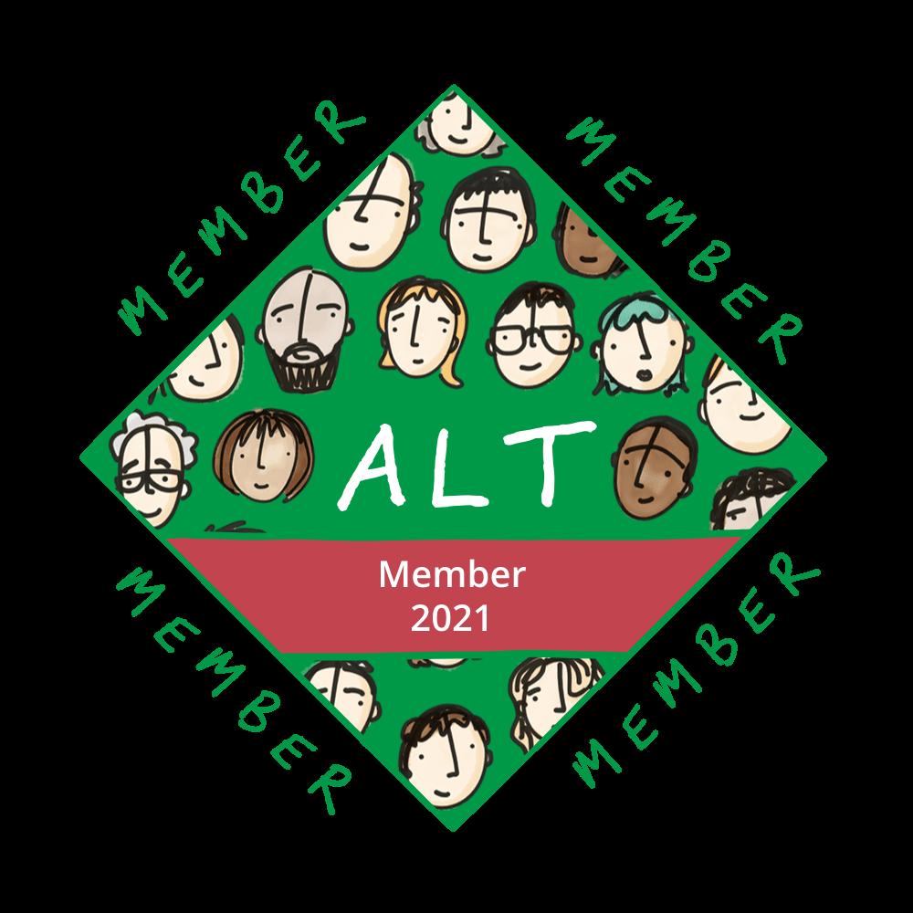 image of the digital ALT membership badge
